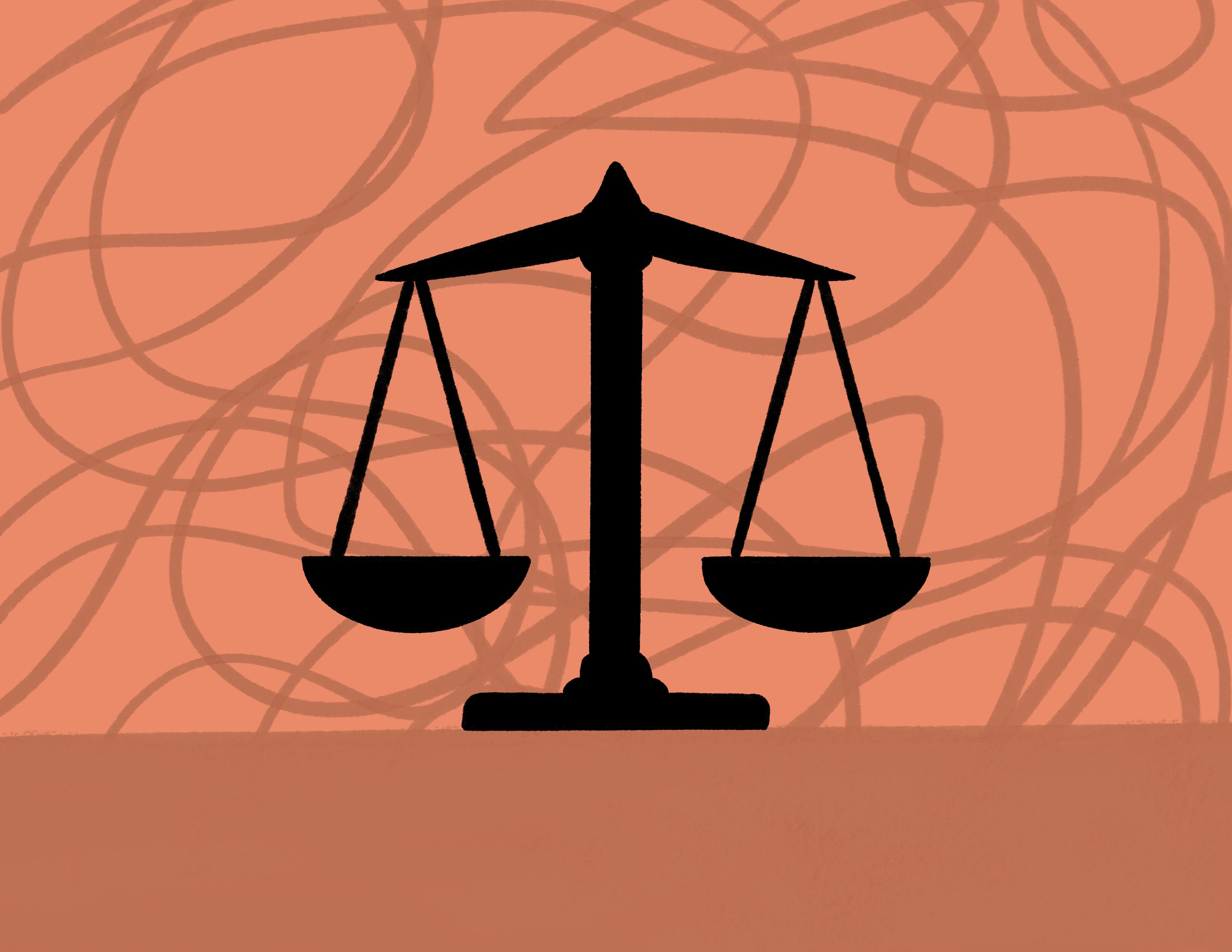 a scale representing balance
