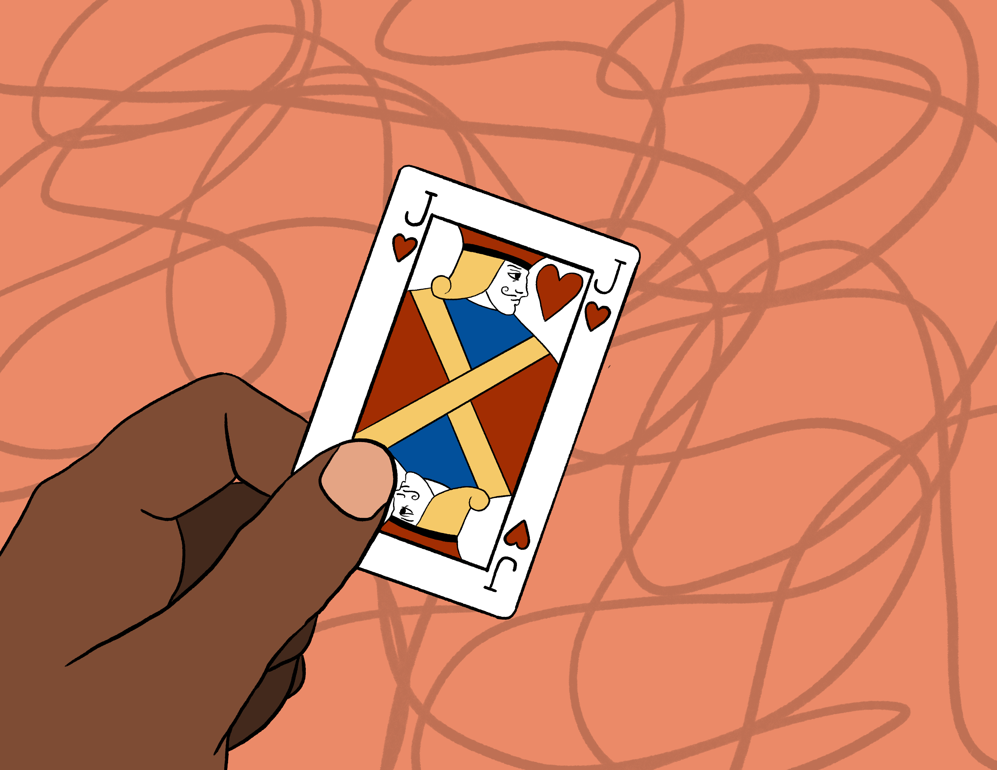 a jack of hearts playing card