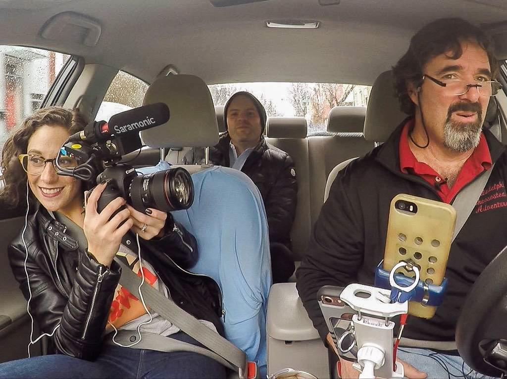 amanda bryant filming a car scene