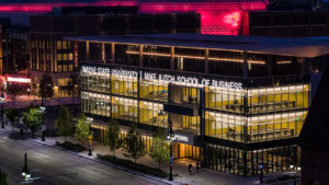 the mke ilitch school of business outside shot