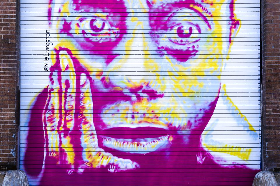 mural of james baldwin