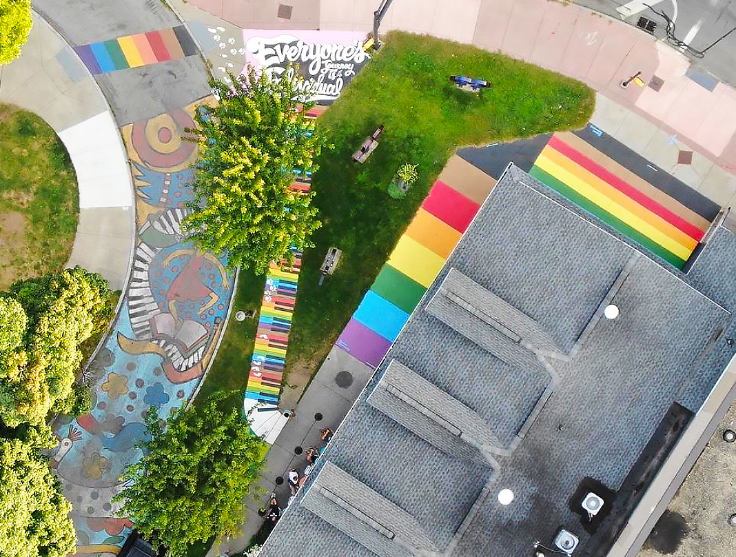 pride mural by shawn dunwoody