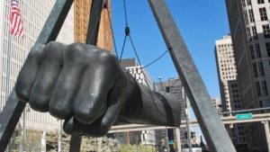 Joe Luis Fist of a Champion statue