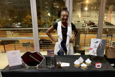 kyla wright at a pop up event