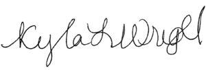 Kyla Wright signature