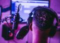 someone wearing headphones in a studio